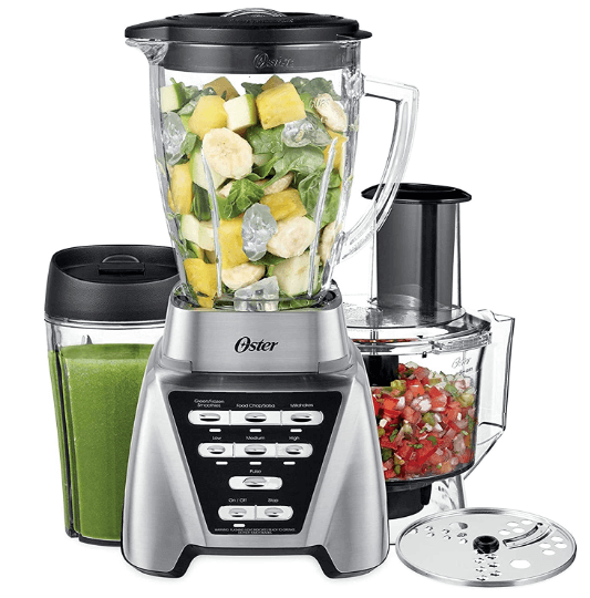 Oster Blender Pro 1200 with Glass Jar Smoothie Cup and Food Processor