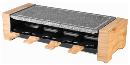 Artestia Electric Raclette Grill With High-Density Granite Grill