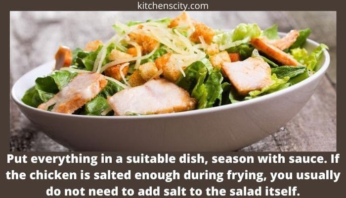 Caesar Salad With Chicken Vegetables And Cheese