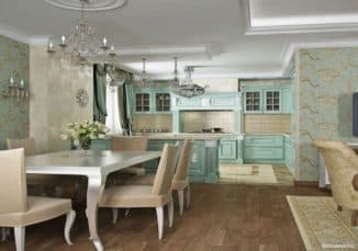wallpaper for classic kitchen