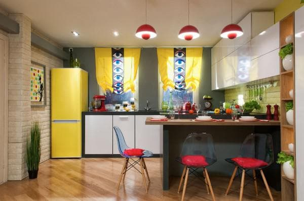 Cheerful pop art is a symphony of color.