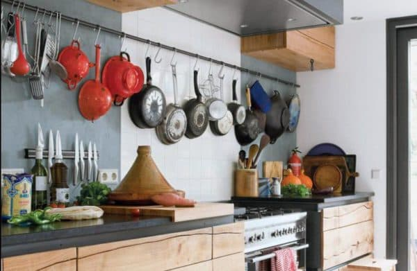 rails for the kitchen how to place