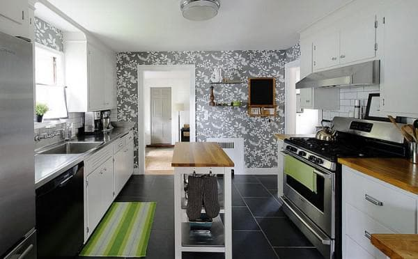 wallpaper for the kitchen in the interior