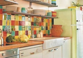 patchwork apron for kitchen