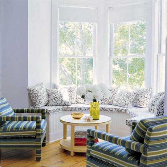 the bay window can be used as a recreation area