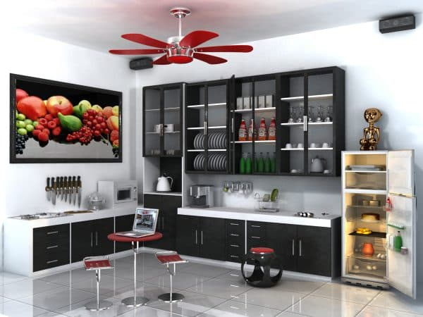 modern kitchen is made of practical materials