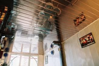 Ceiling decoration in the kitchen options