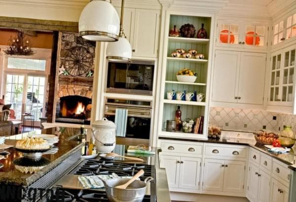 kitchen in country style photo interior