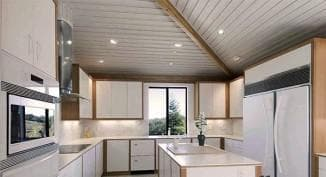 finishing the ceiling in the kitchen