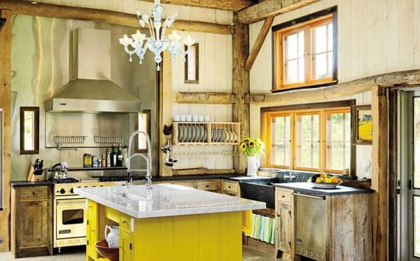 kitchen in country style photo interior,