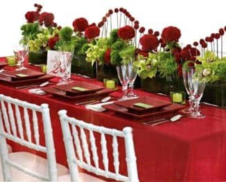 Table setting at home